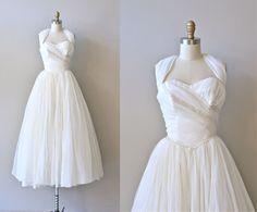 Inanna wedding dress  vintage 1950s wedding dress  by DearGolden, $425.00