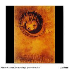 Poster-Classic Art-Redon 31 Poster | Zazzle.com
