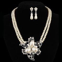 Gift For Mother Fashion Flower Shape Alloy (Necklaces&Earrings&) Pearl Jewelry Sets Women's Jewelry Sets, Cheap Jewelry, Women Jewelry, Jewelry Ideas, Pearl Jewelry, Jewelery, Pearl Earrings, Flower Fashion, Women's Fashion