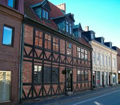 Helsingborg, Sweden. There's a neat courtyard behind this building (I think it's this one)