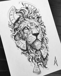 Lion Tattoo Design, Tattoo Design Drawings, Tattoo Sketches, Tribal Sleeve Tattoos, Tattoo Sleeve Designs, Tribal Lion Tattoo, Czech Tattoo, Desenho New School, Lion Tattoo Sleeves