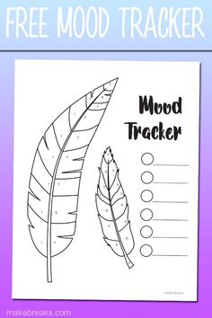 This free printable mood tracker features a pair of feathers and is divided into segments which you can color in to track your mood. Check out our other freebies! Creating A Bullet Journal, Bullet Journal Tracker, Bullet Journal Printables, Bullet Journal Mood, Journal Template, Bullet Journal Ideas Pages, Bullet Journals, Planner Template, Tracker Free