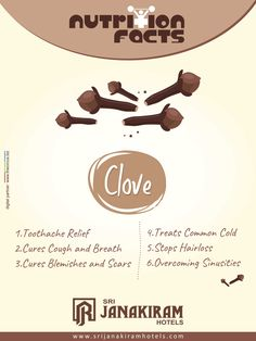 Nutritional Facts! Clove - Its health benefits are amazing. Helping treat a wide range of illness. Lets know some valuable info about it.   #srijanakiram #Clove #nutritionalfacts