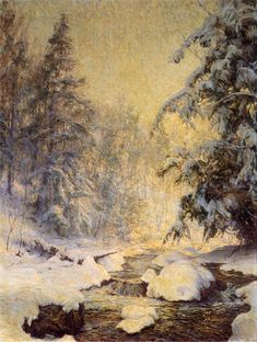 A Brook in Winter (also known as Kinderbrook Creek) Walter Launt Palmer - Date unknown
