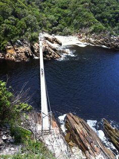 A great hike and brilliant place to spend Xmas Day. Amazing Places, Beautiful Places, Shark Cage, River Mouth, Glorious Days, Holiday 2014, Suspension Bridge, Pedestrian, Storms