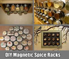 4 DIY Magnetic Spice Rack Ideas (i think I will go with idea #1 for sure... but I love the way #3 looks!)