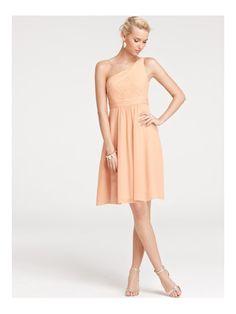 Elegant One Shoulder A-line Pleats Knee Length Bridesmaid Dresses Under 100 BD-20756