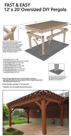 Fast and easy DIY freestanding ShadeScape™️ pergola! #pergolakitsdiy