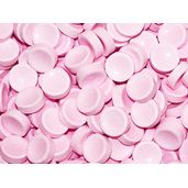 Pastel Pink Tangy Sugar Buttons Candy: 5LB Bag