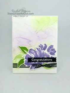 Those Blending Brushes are amazing tools. I'm so glad Stampin' Up! will have them available starting January 5th, 2021. They were fun to play with during my Box Opening video that aired November 9th. And here is my finished Fine Art Floral card! Access more photos, measurements, directions, and a supply list by clicking here. - Stampin' Up!® - Stamp Your Art Out! www.stampyourartout.com #stampyourartout #stampinup