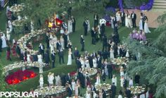 : Guests gathered on a lawn for the celebrations. for Tina Turner!