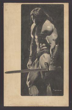 Conan the Barbarian Splash by Dan Adkins Comic Art