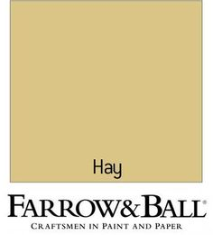 Find Farrow & Ball Eco Hay - Exterior Masonry Paint - at Homebase. Visit your local store for the widest range of paint & decorating products. Farrow And Ball Living Room, Farrow And Ball Kitchen, Farrow And Ball Paint, Farrow Ball, Yellow Paint Colors, Neutral Paint Colors, Yellow Painting, Paint Colors For Home, Wall Colours