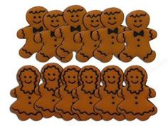 Mr and Mrs Gingerbread Cookies Novelty  Buttons - Sewing Craft Supplies - pinned by pin4etsy.com