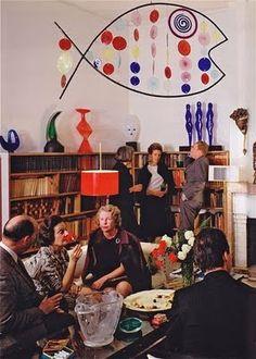 Peggy Guggenheim's Venice living room (1960)