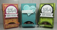 All Things New~ Glitter Queens Blog Hop~ Candy Dispenser video - Dawn's Stamping Thoughts