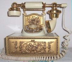 Fancy vintage telephone
