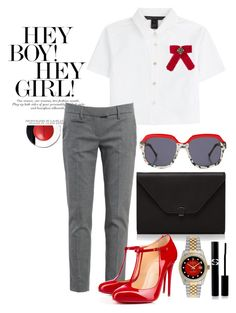 """Let's go for a drink"" by mydreamingcloset ❤ liked on Polyvore featuring Valextra, Preen, Rolex, Marc by Marc Jacobs, Gucci, Dondup, Christian Louboutin, Elizabeth Arden, Sisley and trend"