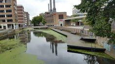 Water met vlonder, Rotterdam