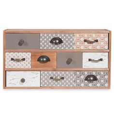Home Decoration on Maisons du Monde. Take a look at all the furniture and decorative objects on Maisons du Monde. Chic Living Room, Living Room Decor, Meubles Peints Style Funky, Decoupage Drawers, Funky Painted Furniture, Desktop Storage, Diy Organization, Nursery Room, Wood Design