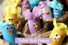 toilet roll peeps - happy hooligans.  These are ADORABLE!!!
