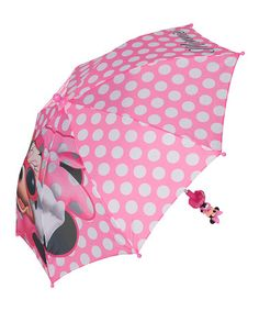 Love this Pink & White Minnie Mouse Umbrella on #zulily! #zulilyfinds