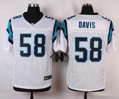 Men's Nike Carolina Panthers #58 Thomas Davis White Elite Jersey