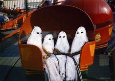 Artist paints generic ghosts over found photographs to haunting and nostalgic effect | Dangerous Minds
