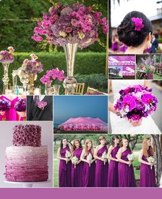 Pantone Color of the Year Radiant Orchid is the New Color for 2014 weddings, Get Bright and Modern! <3 it!