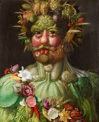 Giuseppe Arcimboldo Giuseppe Arcimboldo was an Italian painter best known for creating imaginative portrait heads made entirely of objects such as fruits, vegetables, flowers, fish, and books. Giuseppe Arcimboldo, Renaissance Food, Renaissance Artists, Food Painting, Painting Prints, Art Prints, Art History Memes, Art Memes, Italian Painters