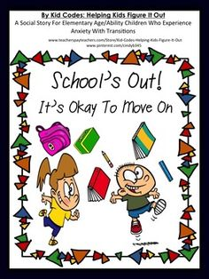 FREE! Social StoryThis social story can be used to help students who struggle with anxiety around transitions. This story talks about the transition from the end of one school year to the beginning of the next. I hope that you can use this story to help a student or child in your care.