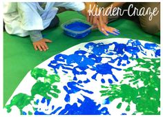 Celebrate Earth Day All Week Long - Kinder Craze Earth Day Activities, Spring Activities, Art Activities, Toddler Activities, Earth Day Projects, Earth Day Crafts, Preschool Themes, Preschool Crafts, Kindergarten Science