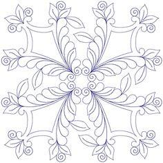 Rosemaling Sheilds Block by Sue Schmieden SJS165108EMB41