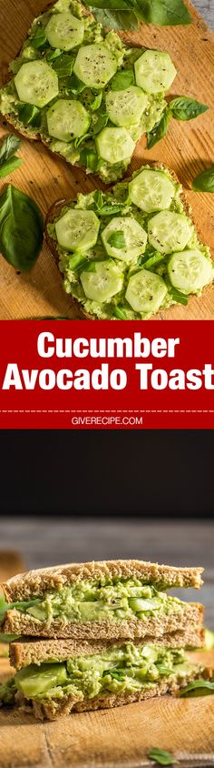 Looking for COOL food?  These open-faced cucumber & avocado toast sandwiches are the PERFECT solution!