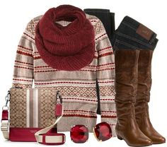 """Cranberries & Coach"" by qtpiekelso on Polyvore"