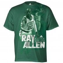 What I wear  to represent #celtics Ray Allen from the kids department, because it isn't available in women's sizes. X-large seems to work best ;)