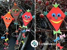 podzimní dekorace - tvoříme s dětmi Art For Kids, Crafts For Kids, Arts And Crafts, Kites Craft, Fall Decor, Holiday Decor, School Decorations, Pergola, Projects To Try