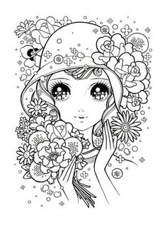 少女マンガ風の塗り絵(ぬりえ)テンプレート 画像 まとめ - NAVER まとめ