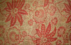 Antique Art Nouveau Cotton Floral Print by VintageClothesNJunk
