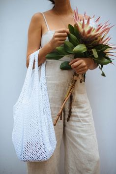DIY Lace Sling Tote