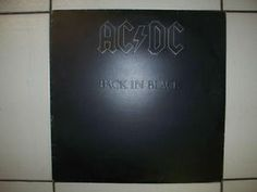 Vintage AC DC Back In Black Vinyl LP in excellent condition Circa 1980 on Atlantic Records, only $75.