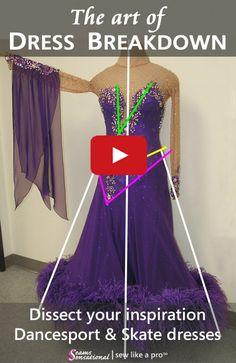 42efabfe2 Dress Breakdown: a competition Dancesport ballgown. Ballroom GownsLatin  Ballroom DressesBallroom DanceIce Dance DressesSkating ...