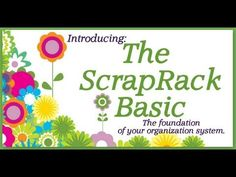 """Meet The ScrapRack Basic, your foundation for craft supply organization. """"Tiffanize"""" your craft supplies with The ScrapRack. Learn how it works in this video presented by organization expert and product designer, Tiffany Spaulding."""