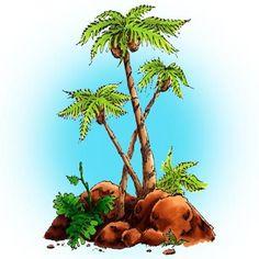 Palm Trees Digi Stamp in Digital images