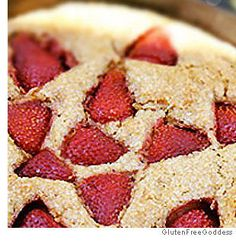 Gluten Free Strawberry Cobbler Cake - the key word in this cake is ...