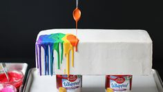 Melted Rainbow Cake. How neat!