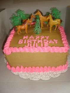 Horse Birthday Cake - could do something with horse toys