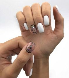 85 Fabulous Spring Square Nail Designs To Make You Shine - Page 16 of 85 - Chic Hostess Gorgeous Nails, Love Nails, Fun Nails, Square Nail Designs, Best Nail Art Designs, Nail Swag, Stylish Nails, Trendy Nails, Plain Nails