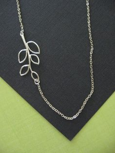 All Sterling Sideways Branch Necklace Branch by TheSterlingSwan, $29.00