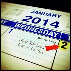 Archive of #INeLearn Chat 1/2/14 Toasting a New Year